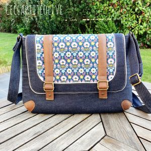 Sac-besace-cartable-work with me-jean-velour-simili-coton-ceclaptiteolive-couture-création-vendée-atelier-tutoriel-Patron