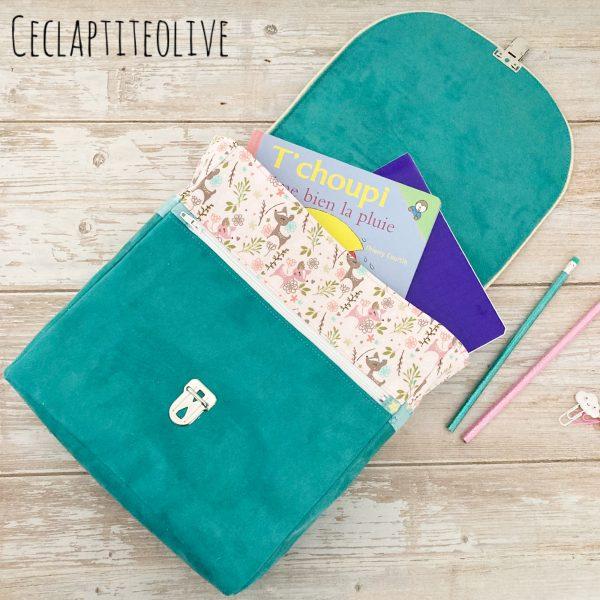 Sac-Sac à dos-prems-cartable-ceclaptiteolive-patron-couture-création-vendée-