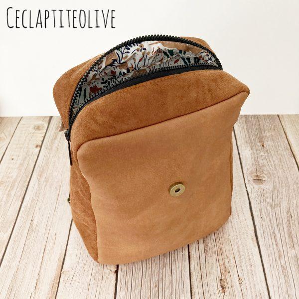 Sac-Sac à dos-Nora-cartable-ceclaptiteolive-patron-couture-création-vendée-
